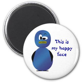 Mein glücklicher Gesichts-Magnet Runder Magnet 5,7 Cm