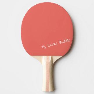 Mein glücklicher Pfirsich/korallenrotes Tischtennis Schläger