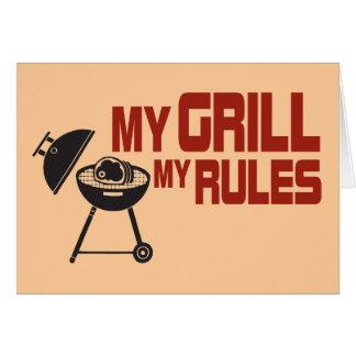Mein Grill meine Regeln Grußkarte