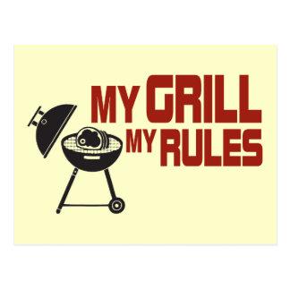 Mein Grill meine Regeln Postkarte