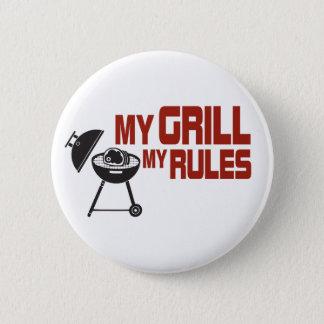 Mein Grill meine Regeln Runder Button 5,7 Cm