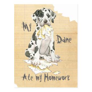 Mein großer Däne aß meine Hausaufgaben Postkarte