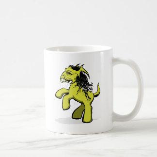 Mein gruseliges kleines Pony (Gelb) Kaffeetasse