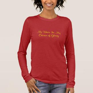 Mein Haar ist meine Krone des Ruhmes Langarm T-Shirt
