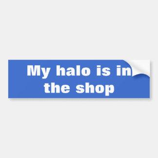 Mein Halo ist im Geschäft Autoaufkleber