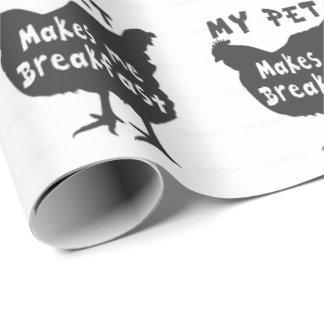 Mein Haustier lässt mich frühstücken Geschenkpapier