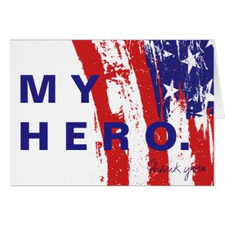 Mein Held danken Ihnen Solider Notecard Karte