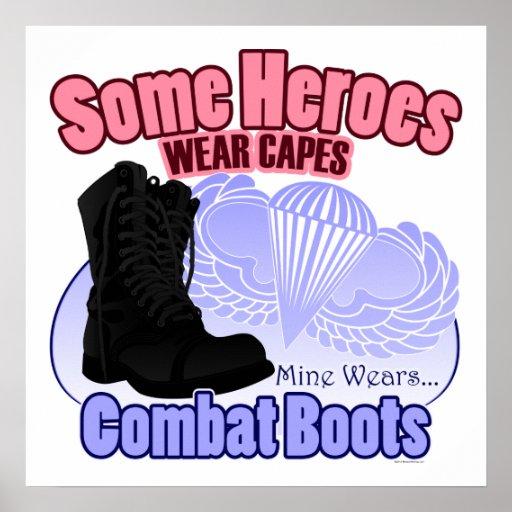 Mein Held trägt Kampf-Stiefel Plakatdruck