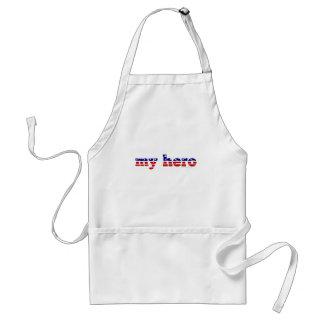 Mein Held-US Flagge-patriotisches rotes weißes Bla Schürze
