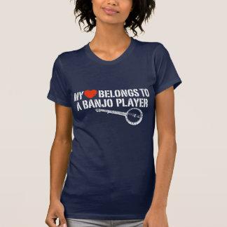 Mein Herz-Banjo-Spieler T-Shirt