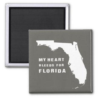 Mein Herz blutet für Florida nach Hurrikan Irma Quadratischer Magnet