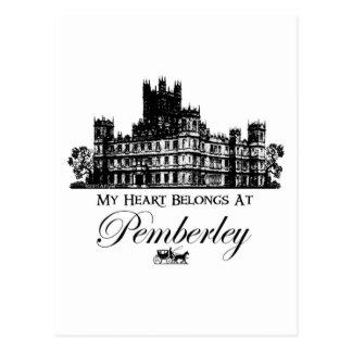 Mein Herz gehört bei Pemberley Postkarte