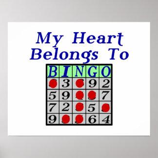 Mein Herz gehört Bingo Poster