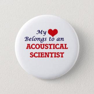 Mein Herz gehört einem akustischen Wissenschaftler Runder Button 5,1 Cm