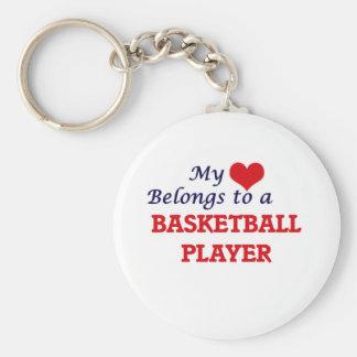 Mein Herz gehört einem Basketball-Spieler Schlüsselanhänger