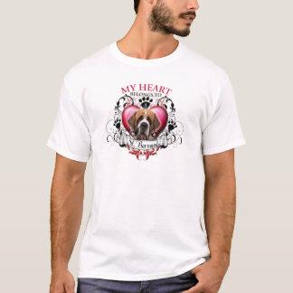 Mein Herz gehört einem Bernhardiner T-Shirt