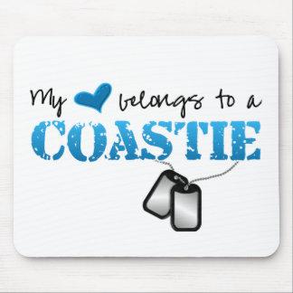 Mein Herz gehört einem Coastie Mousepad