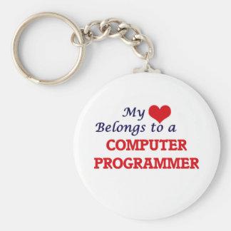 Mein Herz gehört einem Computerprogrammierer Schlüsselanhänger