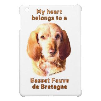 Mein Herz gehört einem Dachshund Fauve de Bretagne iPad Mini Hülle