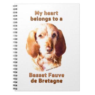 Mein Herz gehört einem Dachshund Fauve de Bretagne Notizblock