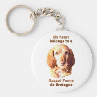 Mein Herz gehört einem Dachshund Fauve de Bretagne Schlüsselanhänger