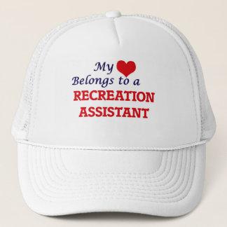 Mein Herz gehört einem Erholungs-Assistenten Truckerkappe