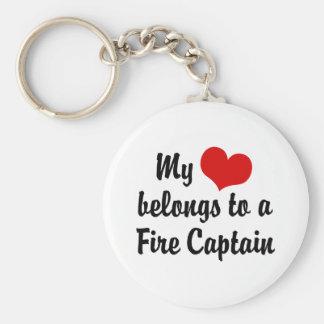 Mein Herz gehört einem Feuer-Kapitän Schlüsselanhänger