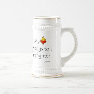 Mein Herz gehört einem Feuerwehrmann Bierglas