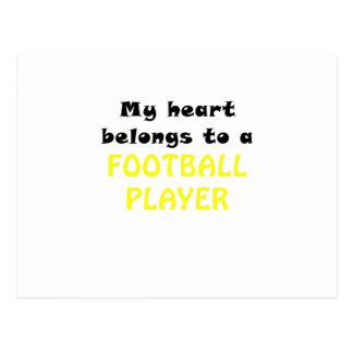 Mein Herz gehört einem Fußball-Spieler Postkarte