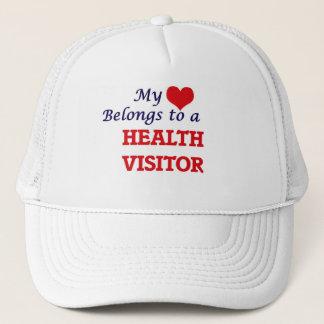 Mein Herz gehört einem Gesundheits-Besucher Truckerkappe