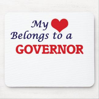Mein Herz gehört einem Gouverneur Mousepads