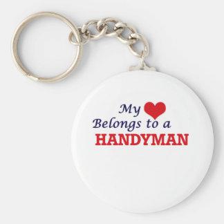 Mein Herz gehört einem Heimwerker Schlüsselanhänger