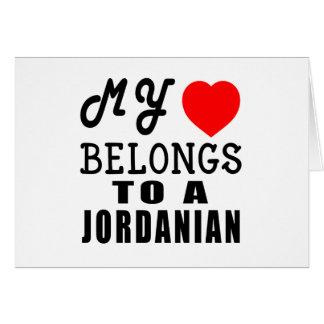 Mein Herz gehört einem Jordanier Karte