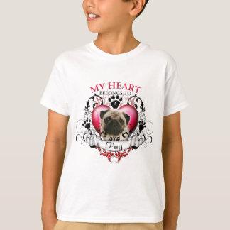 Mein Herz gehört einem Mops Tshirt