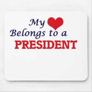 Mein Herz gehört einem Präsidenten Mousepad
