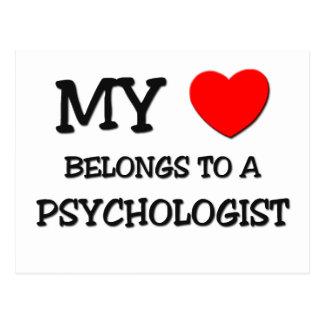 Mein Herz gehört einem PSYCHOLOGEN Postkarte