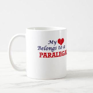 Mein Herz gehört einem Rechtsassistenten Kaffeetasse