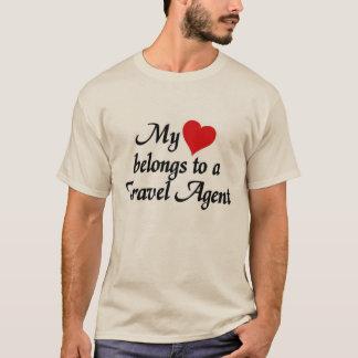 Mein Herz gehört einem Reise-Agenten T-Shirt