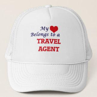 Mein Herz gehört einem Reise-Agenten Truckerkappe