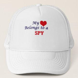 Mein Herz gehört einem Spion Truckerkappe