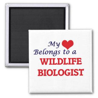 Mein Herz gehört einem Tier-Biologen Quadratischer Magnet