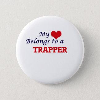 Mein Herz gehört einem Trapper Runder Button 5,1 Cm