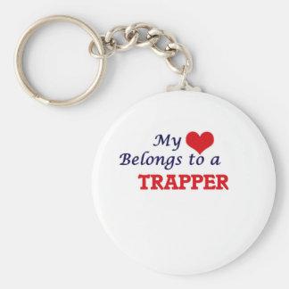 Mein Herz gehört einem Trapper Schlüsselanhänger
