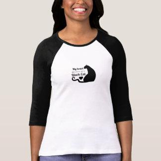 Mein Herz gehört einer schwarzen Katze T-Shirt