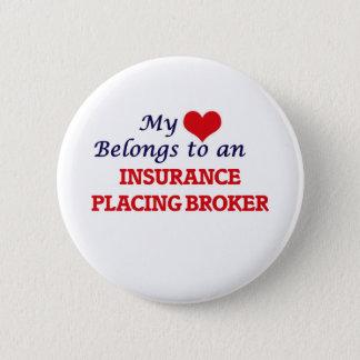Mein Herz gehört einer Versicherung, die Makler Runder Button 5,7 Cm