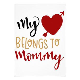Mein Herz gehört Mamakarte Karte