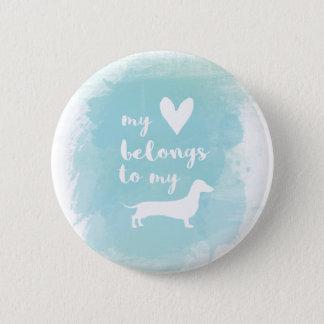 Mein Herz gehört meinem dachs Kalligraphie Runder Button 5,1 Cm