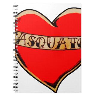 Mein Herz gehört sasquatch Notizblock