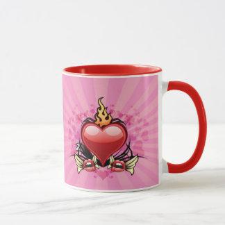 Mein Herz ist auf Feuer-Tasse Tasse