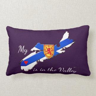 Mein Herz ist das lila Tal Neuschottland-Kissen Lendenkissen